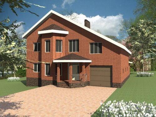 Готовый план дома с мансардой и гаражом дедовск гараж купить