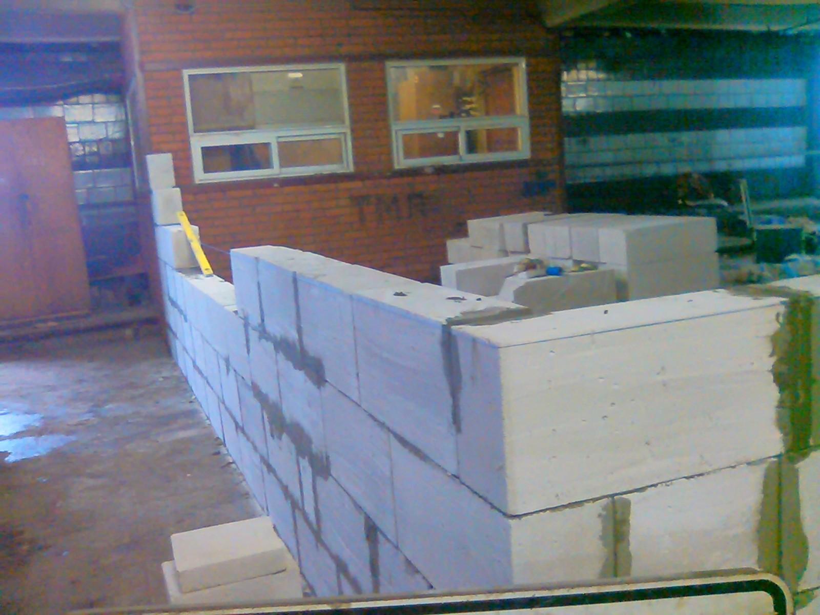 Строительство хозблока из пеноблоков